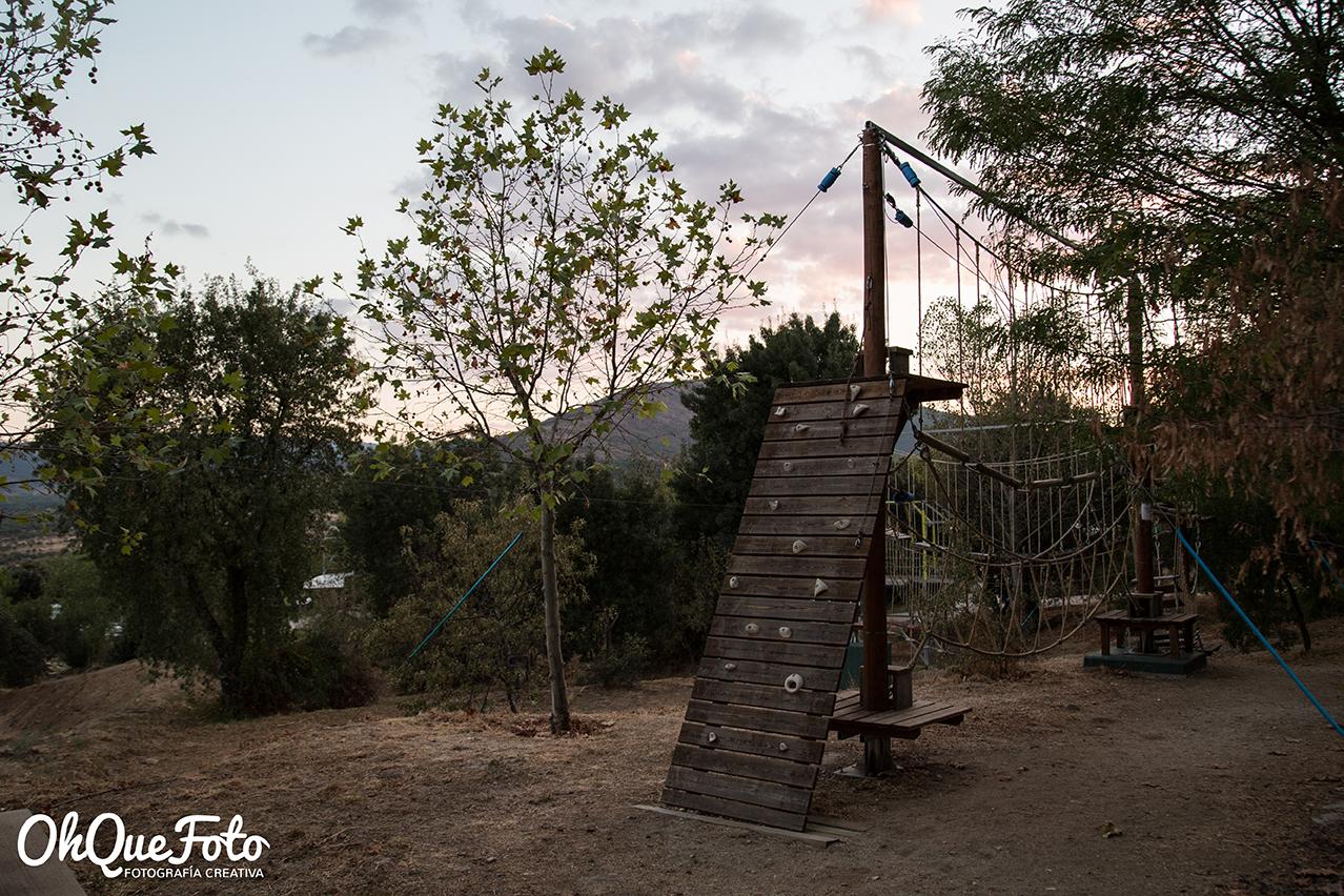 Parque infantil en camping Monte Holiday