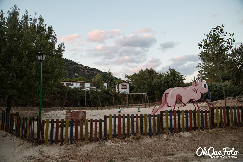 Parque para niños en camping Monte Holiday