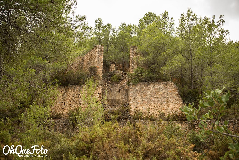 Ruinas en via verde de Ojos negros