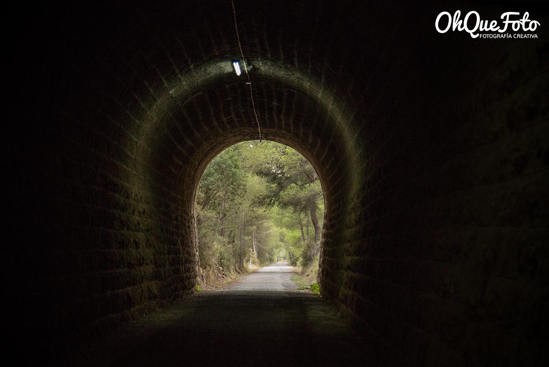 Túnel en via verde de Ojos Negros