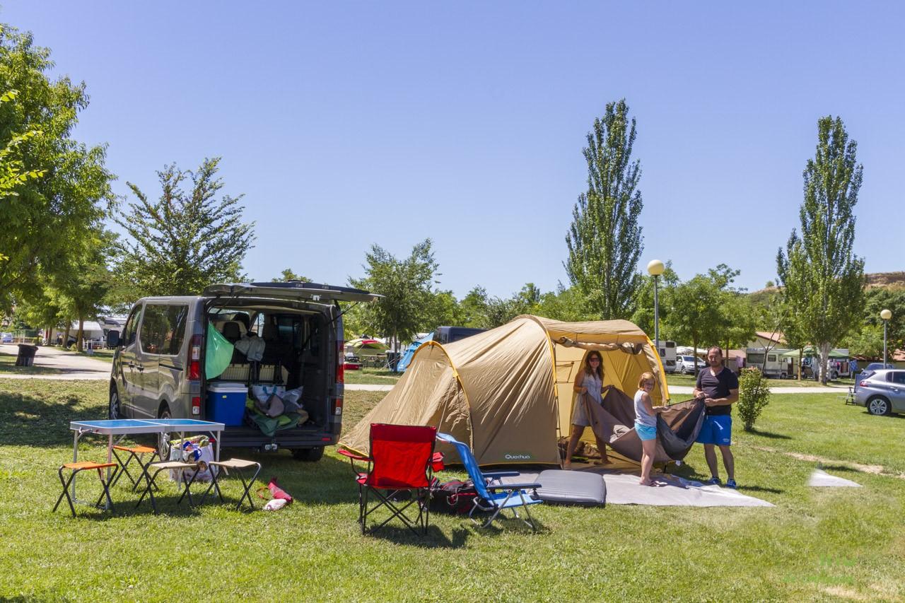 de camping en Semana Santa