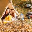 otoño camping