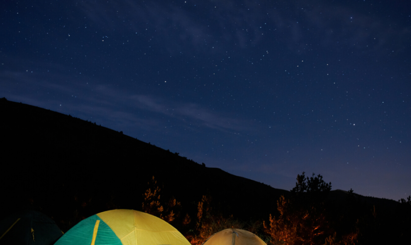 lámparas de camping